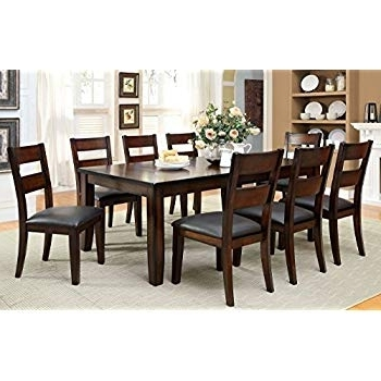 Well Known Market 7 Piece Dining Sets With Host And Side Chairs In Amazon – Furniture Of America Dallas 9Piece Transitional Dining (View 16 of 20)