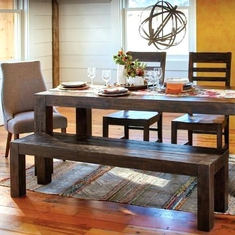 Well Known Market Dining Tables For World Market Storage Bench Distressed Wood Fixed Dining Table World (View 18 of 20)