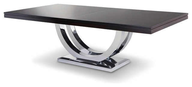 Well Known Metro Dining Tables Regarding Metro Chrome Base Dining Table – Modern – Dining Tables – Other – (View 17 of 20)