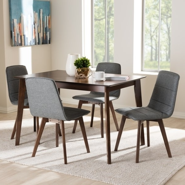 Well Known Mid Century 5 Piece Dining Setbaxton Studio – Free Shipping Intended For Caden 5 Piece Round Dining Sets With Upholstered Side Chairs (View 18 of 20)