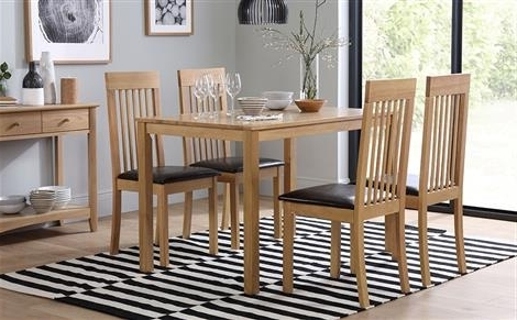 Well Known Milton Oak Dining Table With 6 Chester Ivory Chairs Only £ (View 20 of 20)