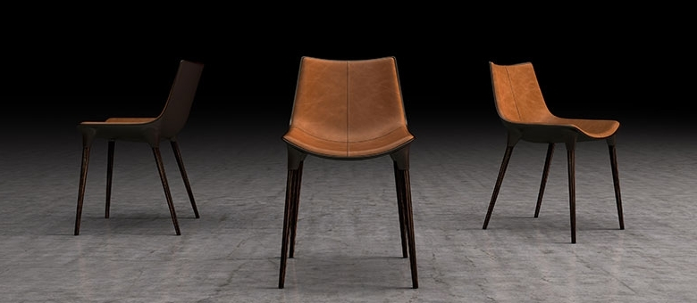 Well Known Modloft Modern Furniture, Dining Chairs Intended For Brown Leather Dining Chairs (View 19 of 20)