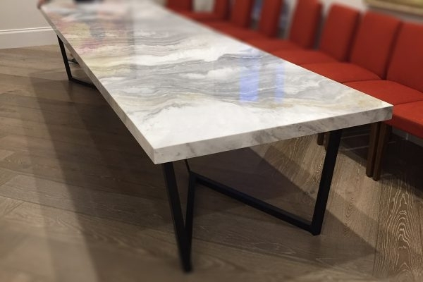 Well Known Monaco Dining Tables Pertaining To Large 8 Seater Marble Dining Table (View 16 of 20)