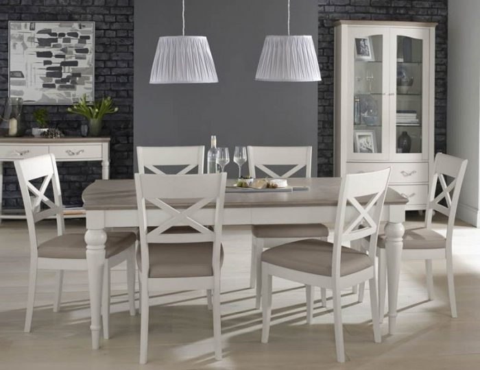 Well Known Montreux Grey Two Tone 180 Cm Extending Dining Set Throughout Walden Extension Dining Tables (View 17 of 20)