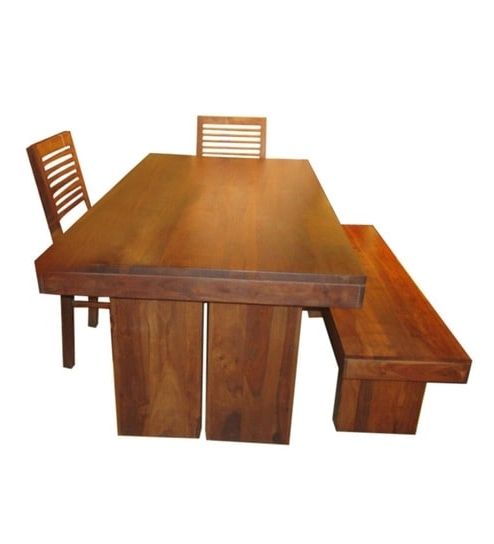 Well Known New York Dining Tables For Buy New York Six Seater Dining Set (1T + 4C + 1B)Evok Online (View 20 of 20)