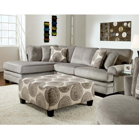 Well Known Norfolk Grey 3 Piece Sectionals With Laf Chaise With Regard To Smoke Gray 2 Piece Microfiber Sectional Sofa (View 14 of 15)