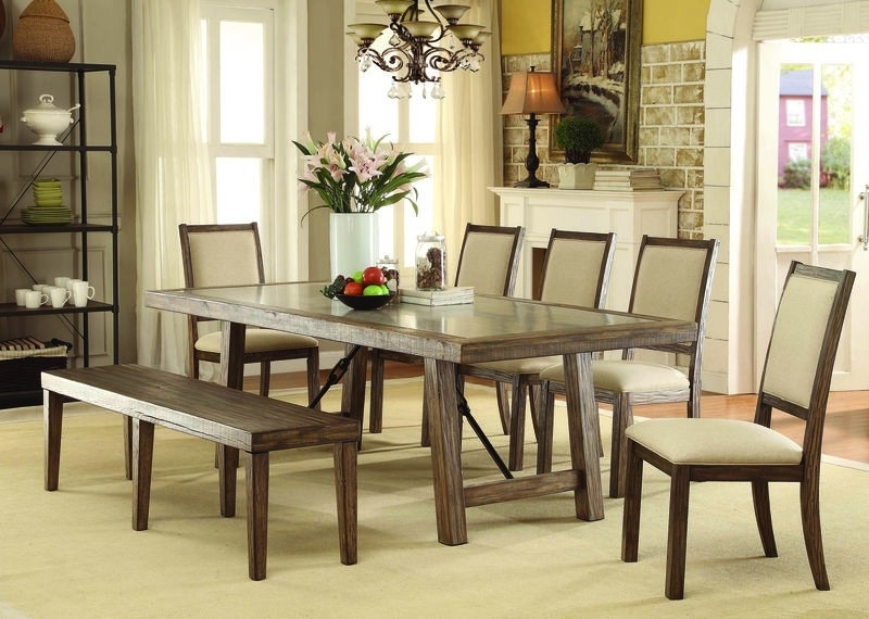 Well Known Norwood 9 Piece Rectangular Extension Dining Sets With Uph Side Chairs Within Plain Design Dining Room Sets With Fabric Chairs Norwood 6 Piece (View 17 of 20)