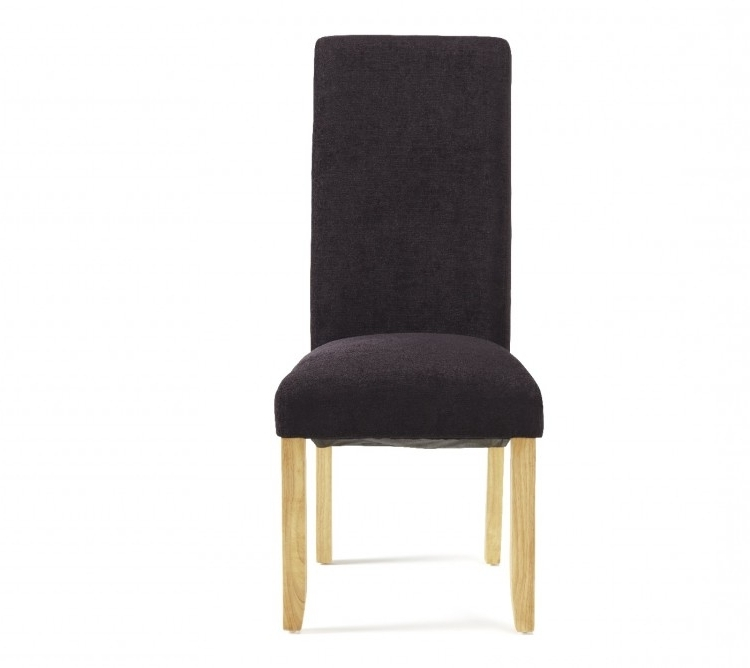 Well Known Oak Fabric Dining Chairs In Serene Kingston Aubergine Fabric Dining Chairs With Oak Legs (Pair (View 20 of 20)