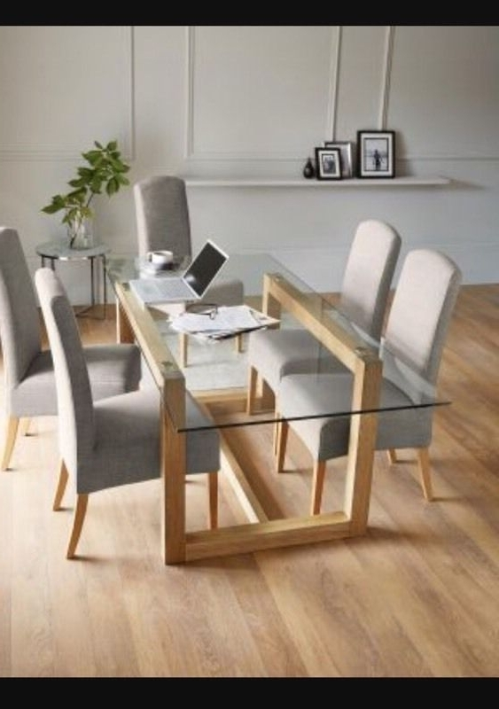Well Known Oak Glass Dining Tables With Next Brooklyn Glass Oak Dining Table (View 20 of 20)