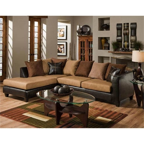 Well Known Parkside Sierra Chocolate Microfiber Sectional Rs 4184 01Sec Gg With Sierra Foam Ii 3 Piece Sectionals (View 15 of 15)