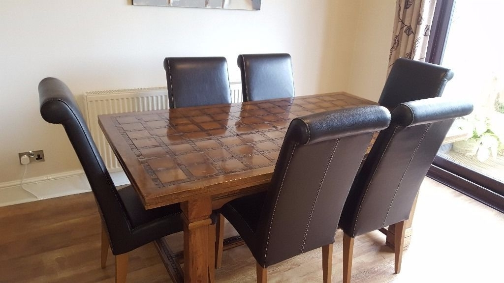 Well Known Parquet 6 Piece Dining Sets With Regard To Parquet, Mango Wood Dining Table And 6 Chairs Sold Subject To (View 18 of 20)