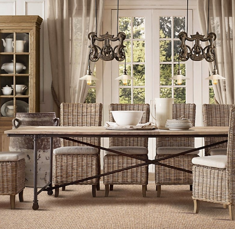Well Known Rattan Dining Tables And Chairs Intended For Dining Room White Rattan Sofa Set Rattan Dining Chairs Next Rattan (View 16 of 20)