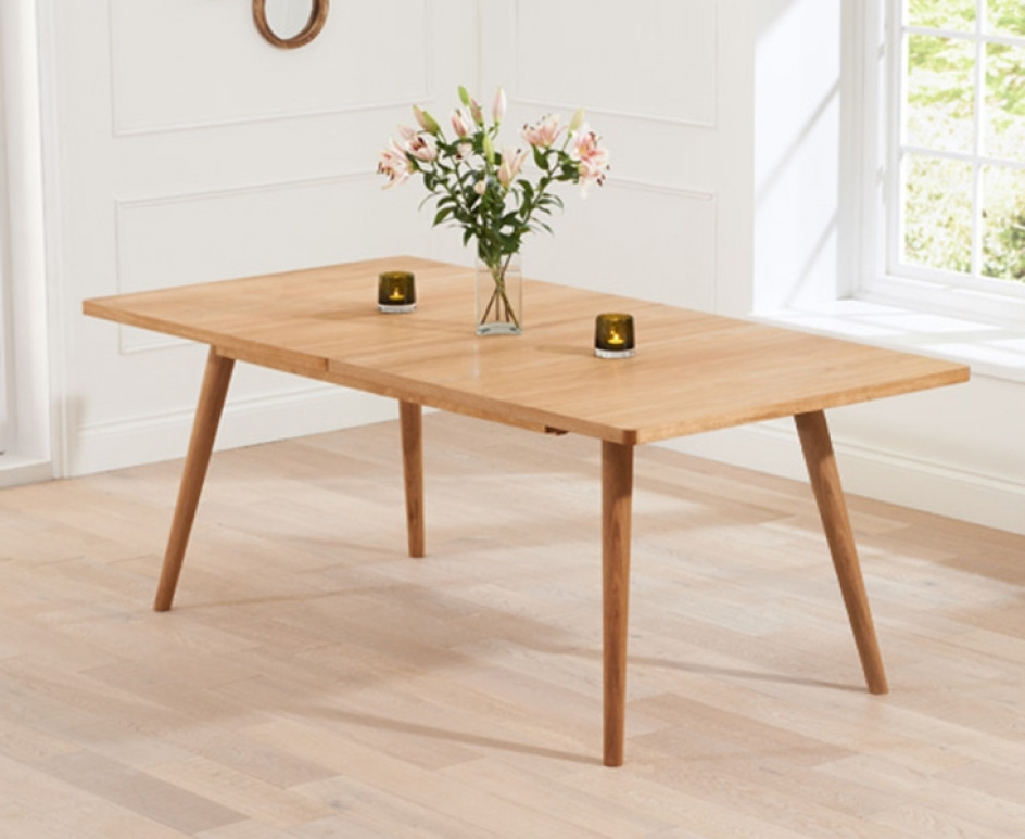 Well Known Retro Extending Dining Tables For Tivoli 150Cm Retro Oak Extending Dining Table (View 19 of 20)
