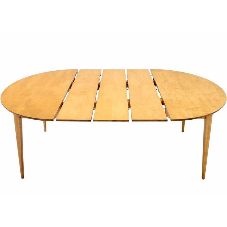 Well Known Round Birch Dining Table With Three Leaves At 1stdibs Throughout Birch Dining Tables (View 2 of 20)