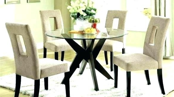 Well Known Round Black Glass Dining Tables And 4 Chairs Pertaining To Drop Dead Gorgeous Round Dining Table And 4 Chairs Small Set Glass (View 20 of 20)