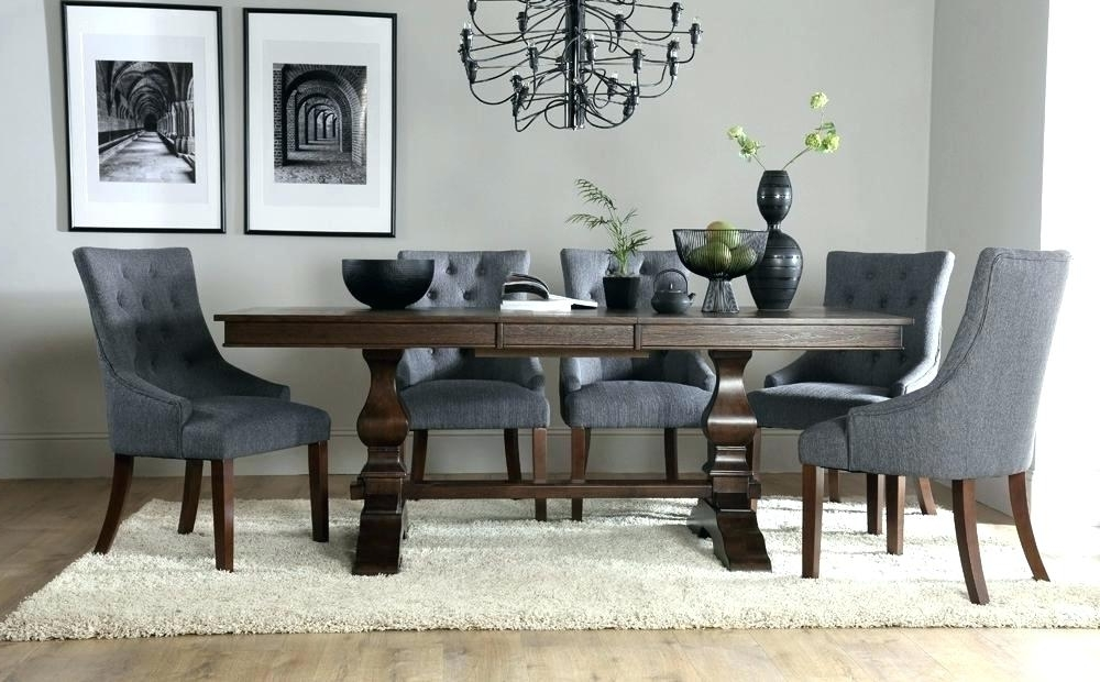 Well Known Round Dining Table With Upholstered Chairs (View 17 of 20)