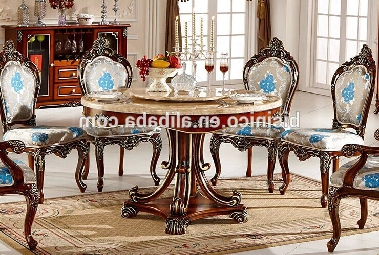 Well Known Royal Dining Tables Regarding European Style Luxury Dining Set,round Dining Table And Chairs,royal (View 19 of 20)