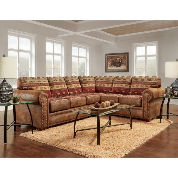 Well Known Shop American Furniture Classics Model B1650K Sierra Lodge Two Piece Pertaining To Sierra Foam Ii 3 Piece Sectionals (View 13 of 15)