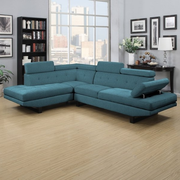 Well Known Shop Clay Alder Home Pope Street Caribbean Blue Linen 2 Piece Inside Alder 4 Piece Sectionals (View 4 of 15)