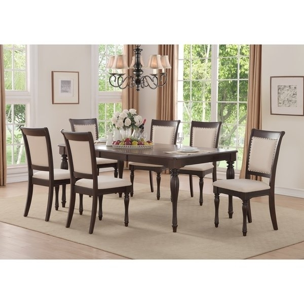 Well Known Shop Home Source Penelope Ivory 5 Piece Dining Set With 1 Table And With Caden 6 Piece Rectangle Dining Sets (View 6 of 20)