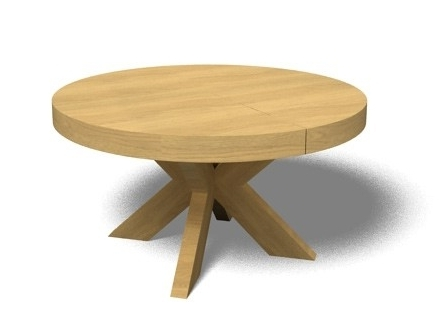 Well Known Small Round Extending Dining Tables Intended For Round Extending Dining Table For Extendable Inspirations (View 11 of 20)