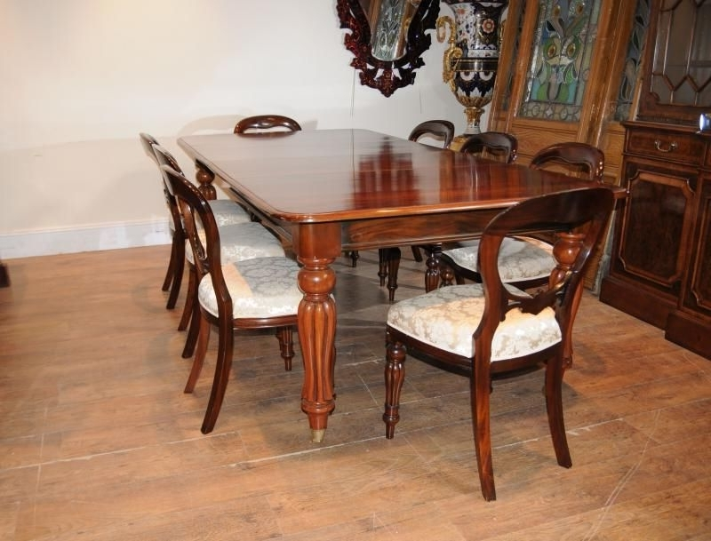 Well Known Victorian Mahogany Dining Table Set Chairs Balloon Back (View 7 of 20)