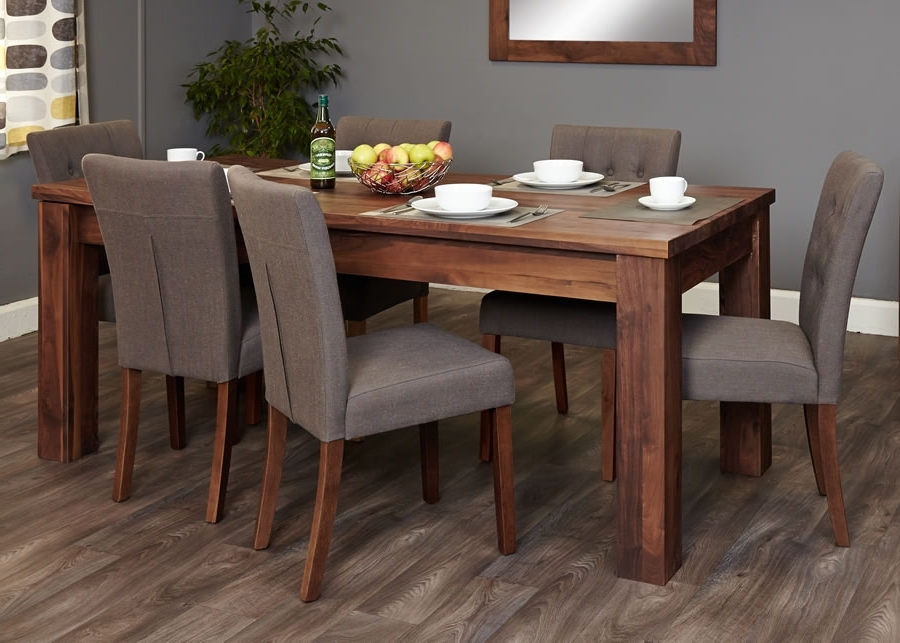 Well Known Walnut Dining Tables And Chairs For Walnut Dining Room Set – Domainmichael (View 5 of 20)