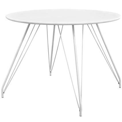 Well Known White Circular Dining Tables Within Amazon – Modway Eei 2673 Whi Set Satellite Circular Dining Table (View 15 of 20)