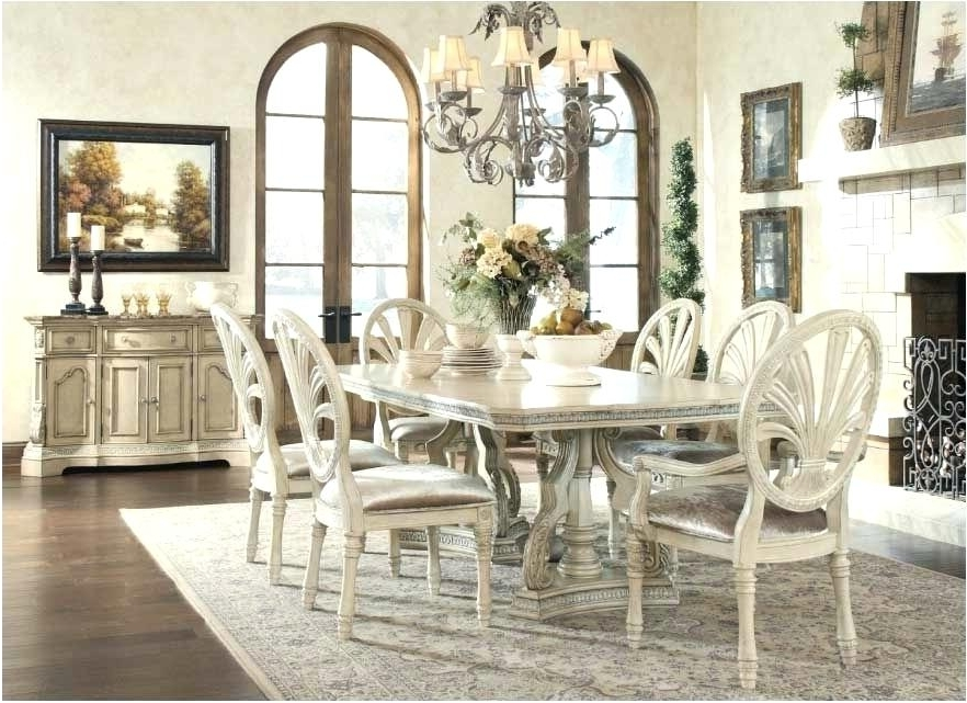 Well Known White Dining Tables Sets With Black And White Dining Room Sets White Dining Room Table Medium Size (View 16 of 20)