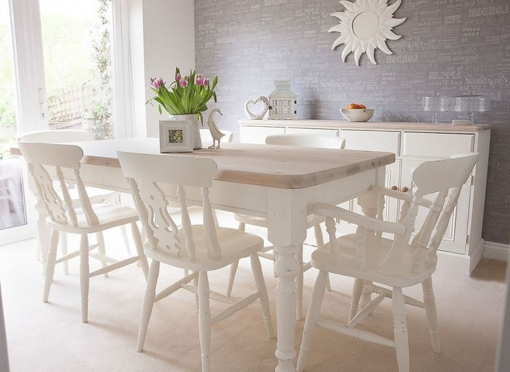 Well Known White Dining Tables With 6 Chairs With Regard To White Dining Room Table And 6 Chairs Best Home Design 2018 Metal (View 16 of 20)