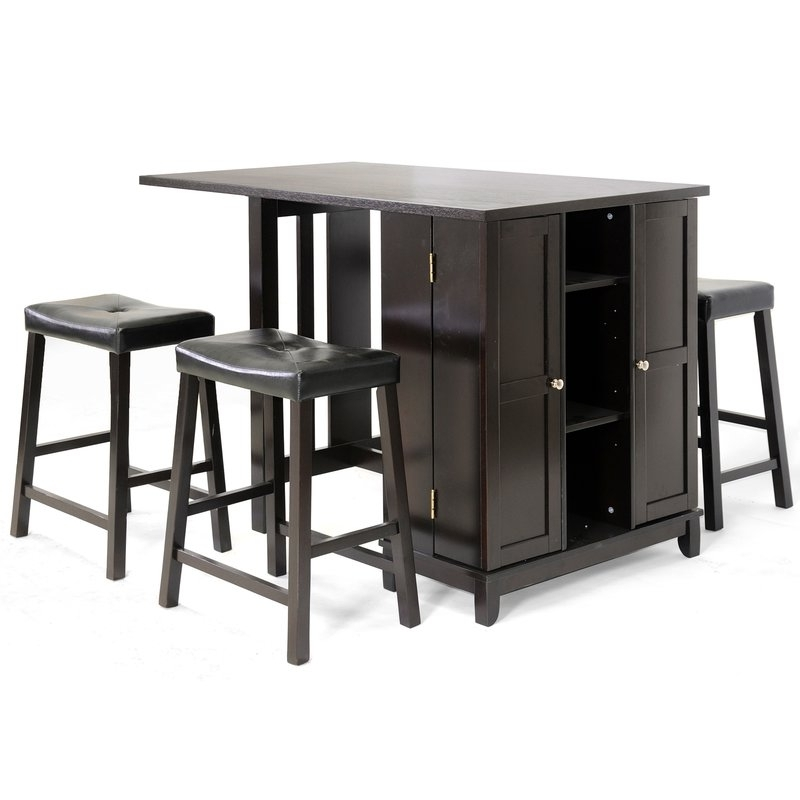 Well Known Wholesale Interiors Baxton Studio Aurora 5 Piece Dining Table Set Pertaining To Harper 5 Piece Counter Sets (View 18 of 20)