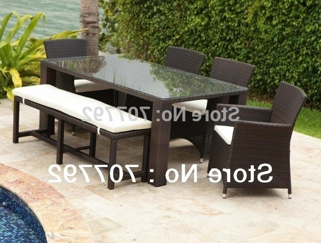 Well Known Wicker And Glass Dining Tables Within 2017 New Design Wicker 7pcs Dining Set, Long Pe Rattan Glass Dining (View 20 of 20)