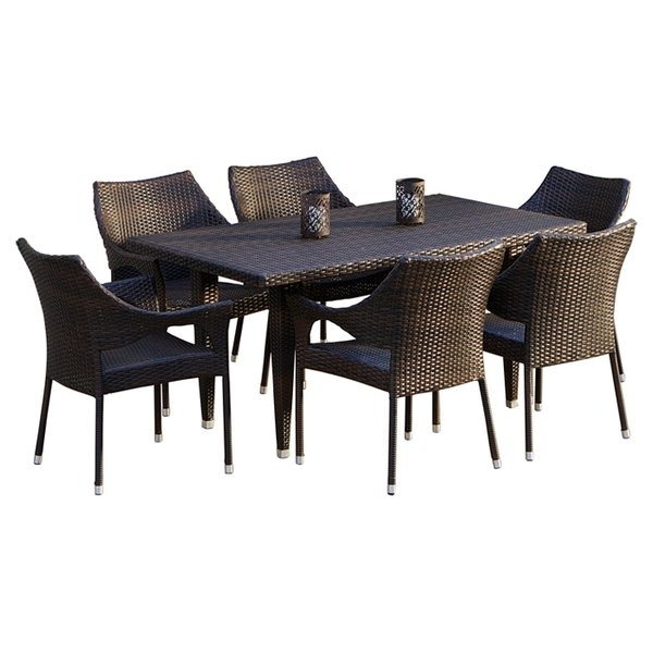 Well Known Wicker Patio Dining Sets You'll Love (View 11 of 20)