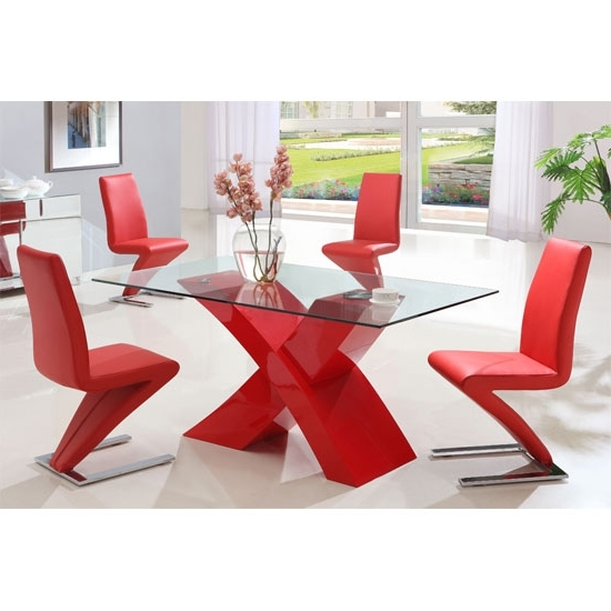 Featured Photo of Red Gloss Dining Tables