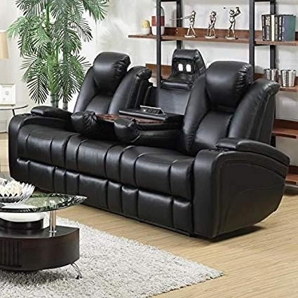 Well Liked Amazon: Delange Reclining Power Sofa With Adjustable Headrests Throughout Marcus Chocolate 6 Piece Sectionals With Power Headrest And Usb (View 6 of 15)
