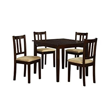 Well Liked Amazon – Dorel Living 5 Piece Redmond Traditional Height Dining With Harper 5 Piece Counter Sets (View 3 of 20)