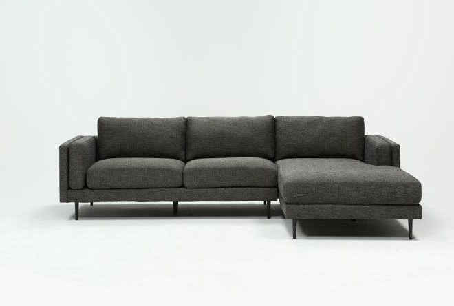 Featured Photo of Aquarius Dark Grey 2 Piece Sectionals With Laf Chaise