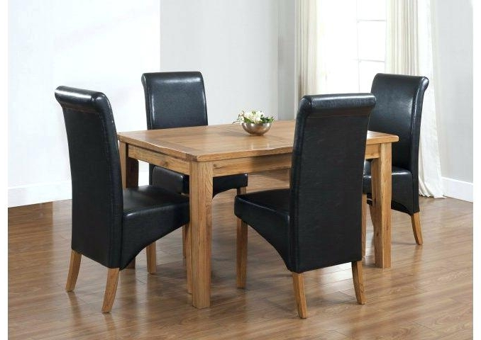 Well Liked Black And Oak Dining Table 4 Chairs Dining Table Black Oak With Oak Dining Tables And 4 Chairs (View 20 of 20)