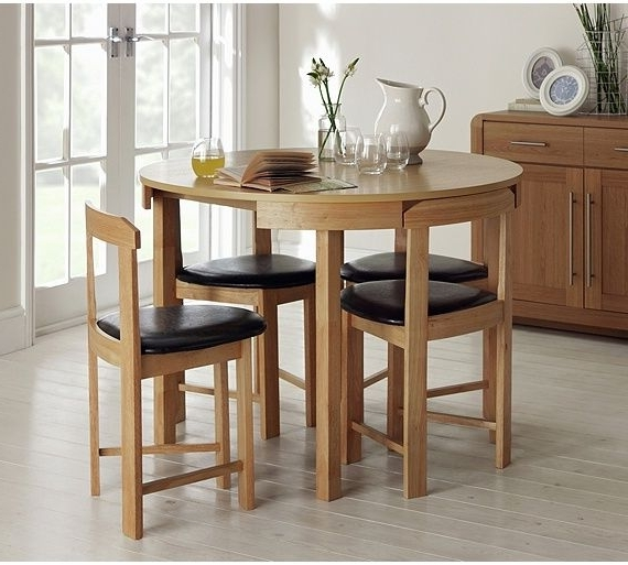 Well Liked Buy Hygena Alena Solid Oak Circular Dining Table & 4 Chairs At Argos Pertaining To Circular Dining Tables For  (View 19 of 20)