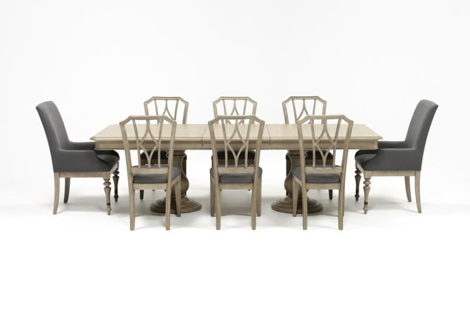 Well Liked Caira 9 Piece Extension Dining Set W/diamond Back Chairs (View 19 of 20)