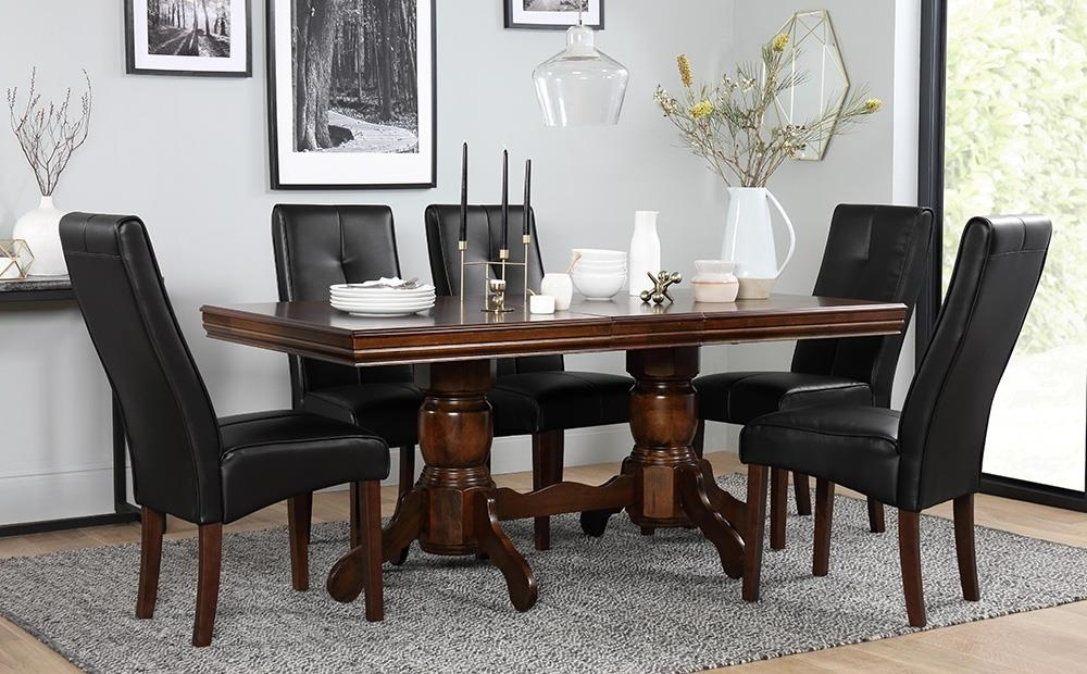 Well Liked Chatsworth Dark Wood Extending Dining Table And 6 Chairs Set (Logan With Regard To Logan 6 Piece Dining Sets (View 20 of 20)