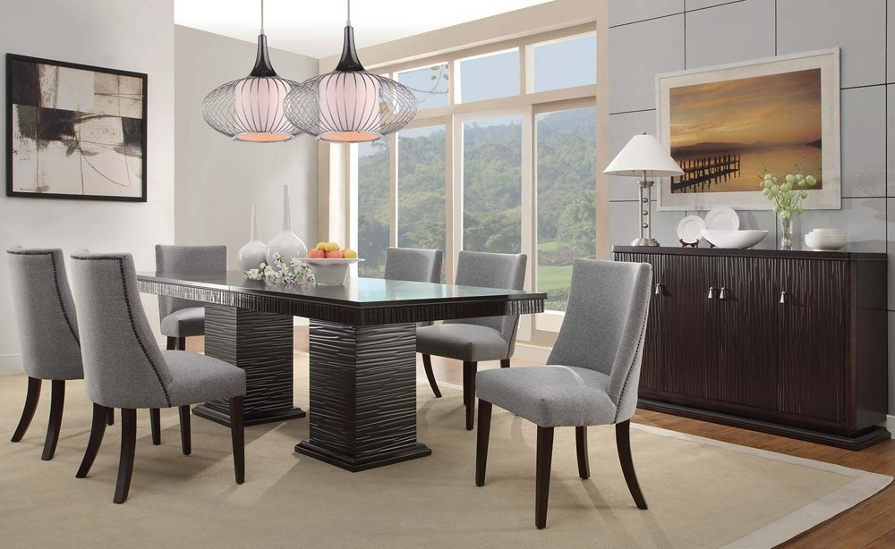 Well Liked Contemporary Dining Tables Sets Regarding Contemporary Dining Room Sets Concept Heavenly Furniture Decor A (View 19 of 20)