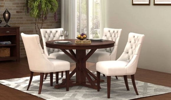 Well Liked Dining Sets For Dining Table Sets: Buy Wooden Dining Table Set Online @ Low Price (View 18 of 20)