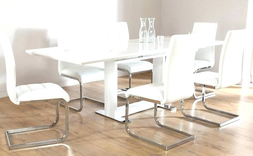 Well Liked Extending Dining Tables 6 Chairs With Regard To White Gloss Extending Dining Table Furniture Modern White Gloss (View 18 of 20)