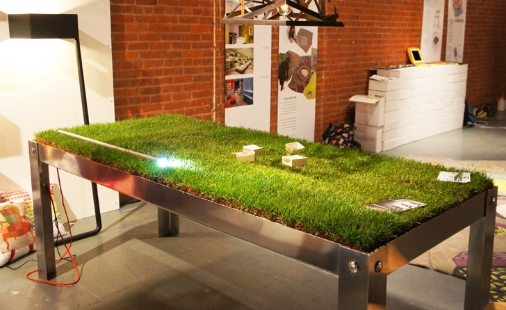 Well Liked Grassy Picnyc Table Brings Al Fresco Dining To Your Living Room With Green Dining Tables (View 7 of 20)