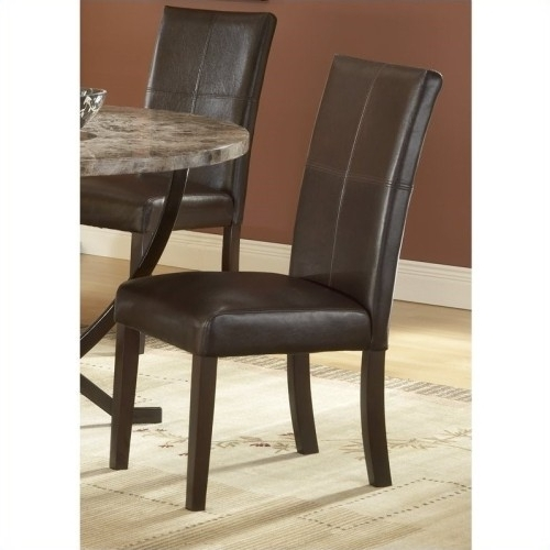 Well Liked Hillsdale Monaco Leather Parson Dining Chair In Espresso (Set Of 2 For Monaco Dining Sets (View 20 of 20)
