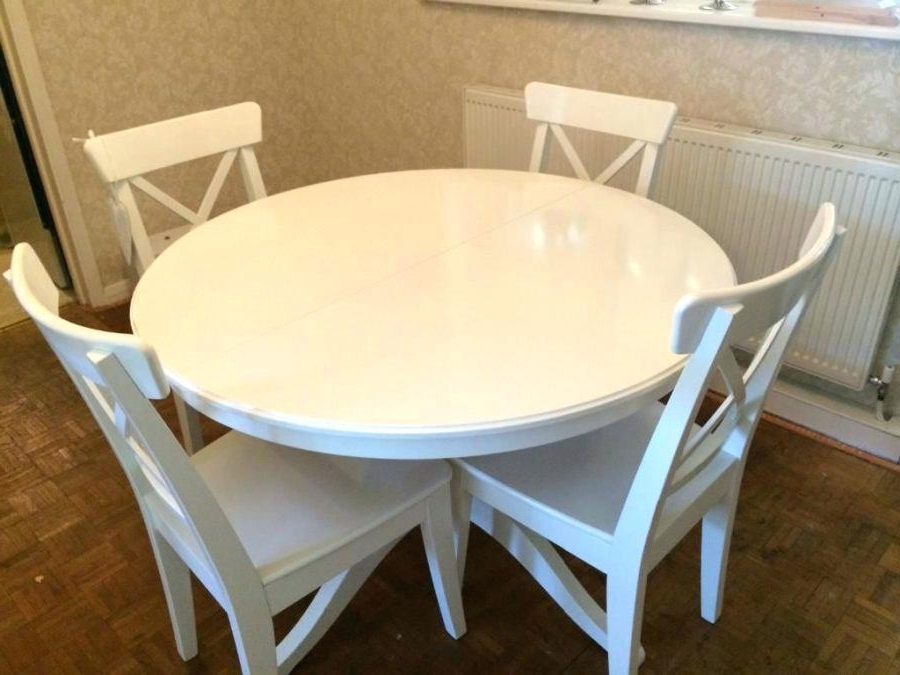 Well Liked Ikea Round Dining Tables Set With Regard To Ikea Round Kitchen Table White Dinner Table White Dinner Table Cozy (View 20 of 20)