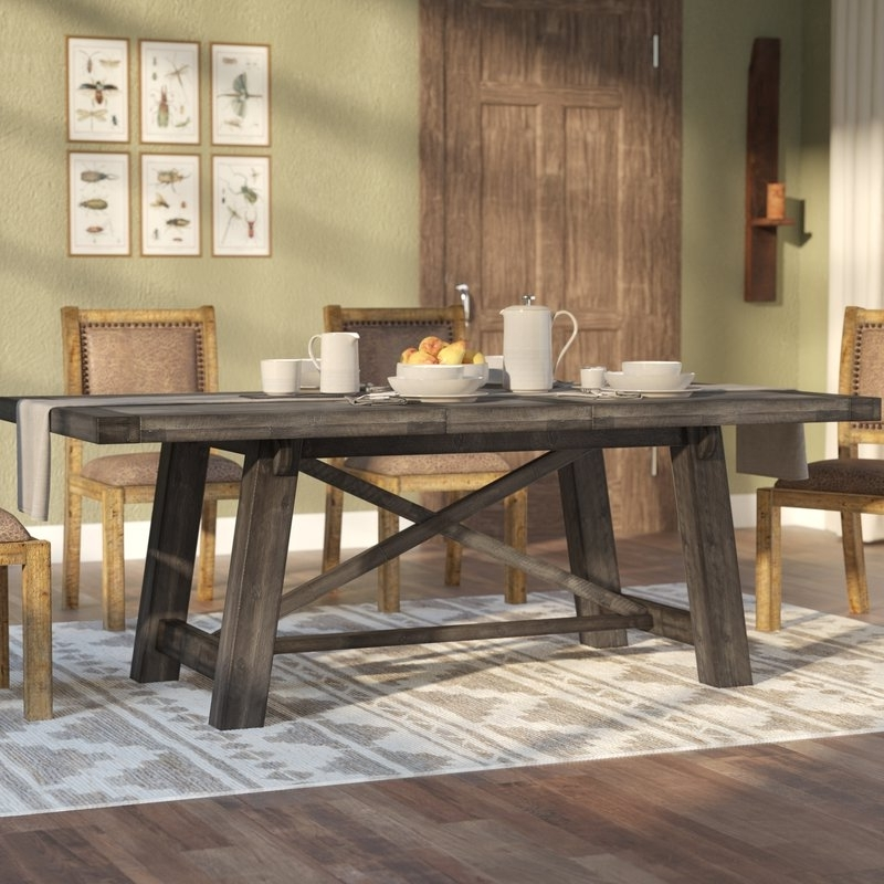 Well Liked Laurel Foundry Modern Farmhouse Colborne Extendable Dining Table Within Extendable Dining Sets (View 18 of 20)
