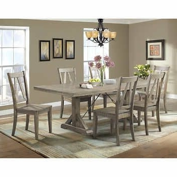 Well Liked Laurent 7 Piece Rectangle Dining Sets With Wood And Host Chairs In Finn 7 Piece Dining Set $1,489.99 Costco (View 20 of 20)