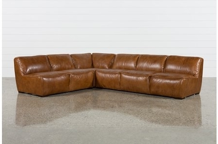 Well Liked Living Spaces Leather Sectional – Implantologiabogota (View 11 of 15)